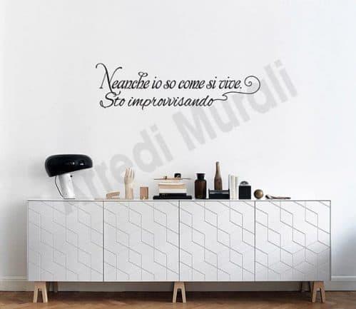 adesivi da parete frase decorazioni arredo casa