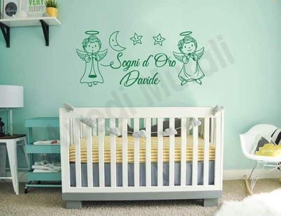 adesivi da parete frase personalizzata cameretta bambini