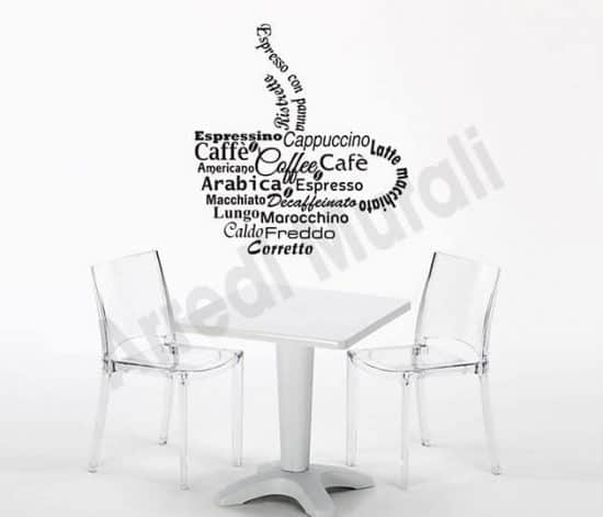 adesivi murali bar coffee arredo design
