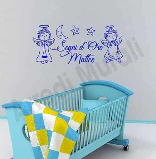 Adesivi murali frase personalizzata cameretta bambini