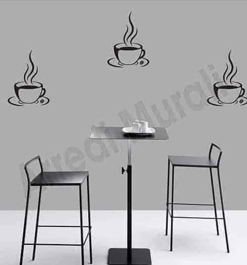Adesivi murali tazzine di caffè bar decorazioni arredo