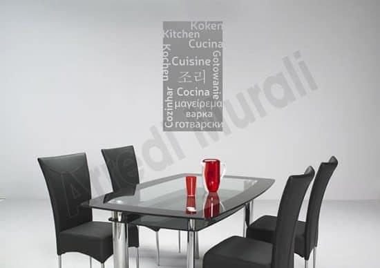 decorazione murale cucina arredo design moderno