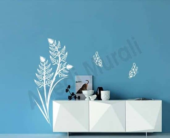 decorazioni da parete felce farfalle arredo design