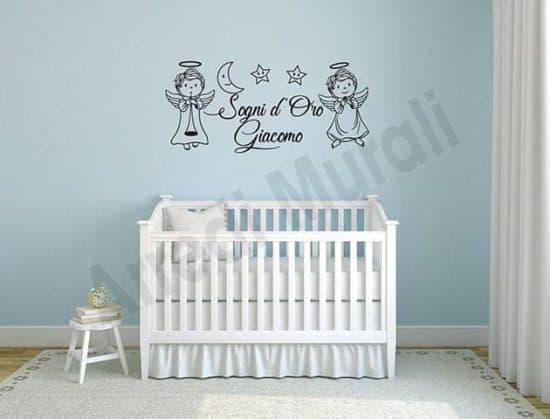 decorazioni murali frase personalizzata cameretta bambini