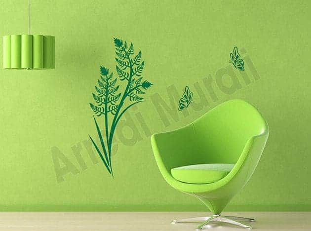 wall stickers felce farfalle arredo design