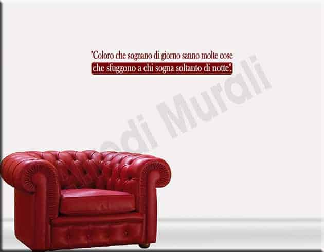 wall stickers frase Edgar Allan Poe decorazioni adesive