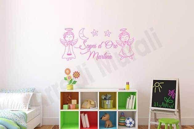 wall stickers frase personalizzata cameretta bambini