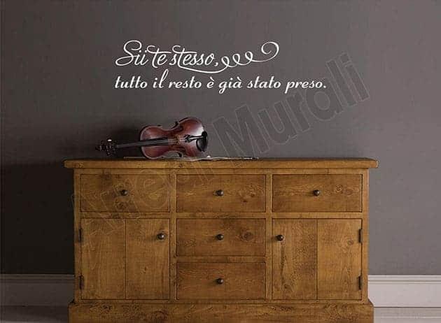 Adesivi da muro frase citazione Oscar Wilde