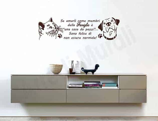 Adesivi da parete frase animali amore decorazioni murali