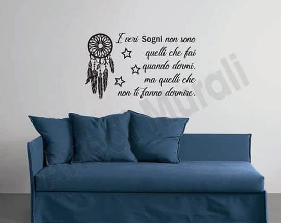 Adesivi da parete frase sogni decorazioni murali