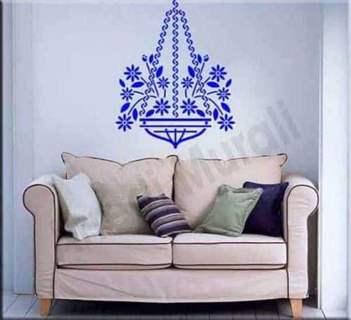 Adesivi murali decorazioni floreali portafiori