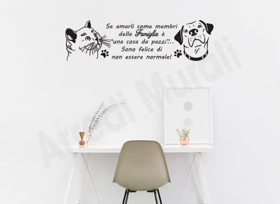 Adesivi murali frase animali amore decorazioni da parete