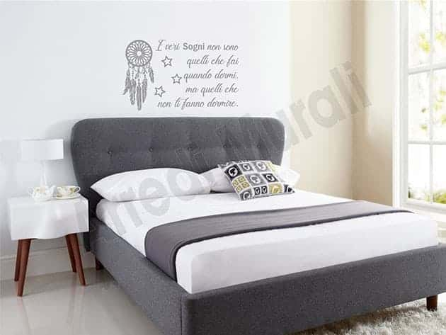 Adesivi murali frase sogni decorazioni da parete