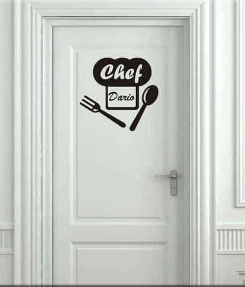 Adesivi murali personalizzati realizziamo ci che vuoi con for Adesivi x cucina
