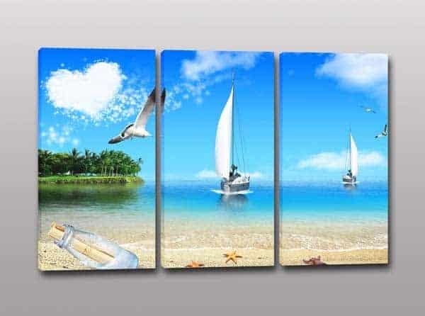 Quadri moderni paesaggio mare stampa su tela arredo