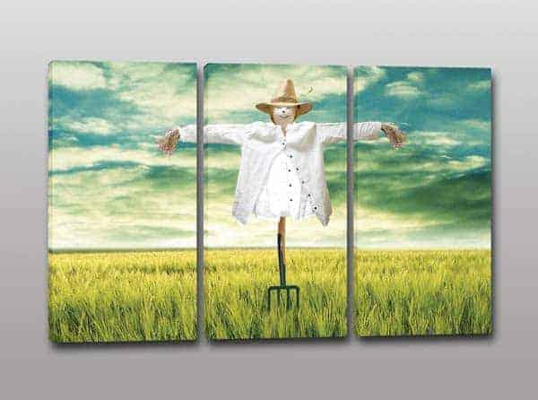 Quadri moderni paesaggio spaventapasseri stampa tela