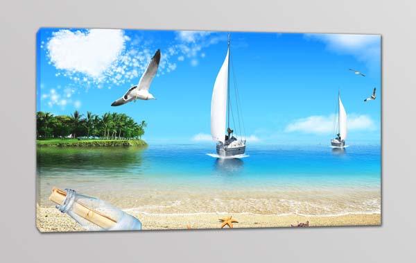 Quadro moderno paesaggio mare stampa su tela arredo