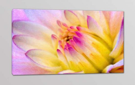 Quadro moderno stampa digitale su tela fiore arredo