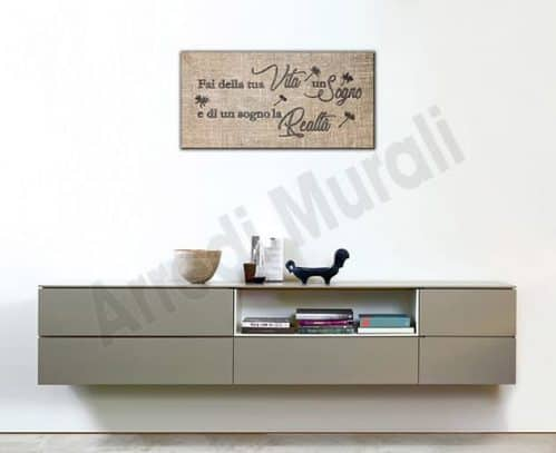 Quadro moderno stampa su tela frase arredo casa