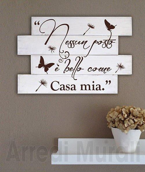 Shabby chic frase casa pannelli in legno decorativi