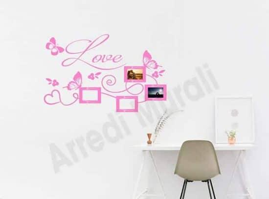 adesivi da parete cornici foto love decorazioni