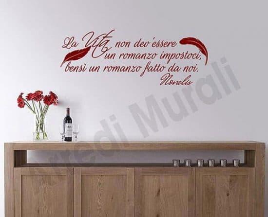 adesivi da parete frase Novalis decorazioni murali