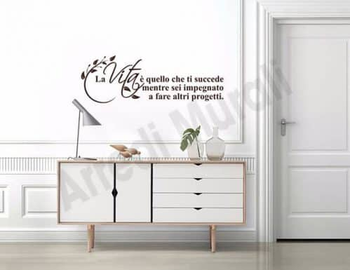 adesivi da parete frase vita decorazioni arredo