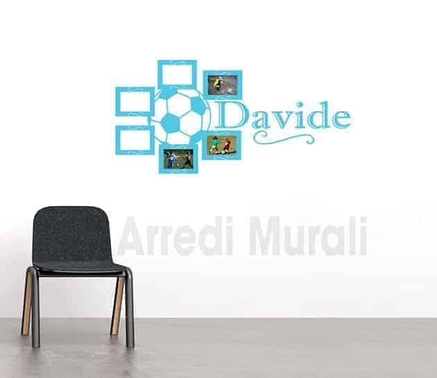 adesivi da parete personalizzati cornici foto nome bambino