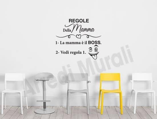 adesivi da parete regole della mamma decorazione murale