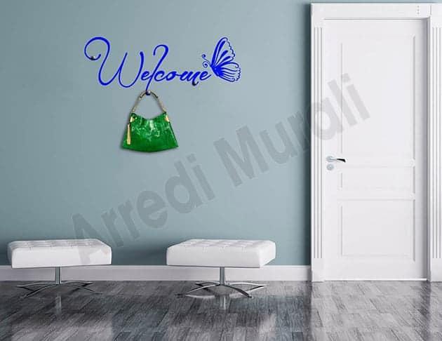 Adesivi da parete appendiabiti welcome arredo casa for Arredo casa shop