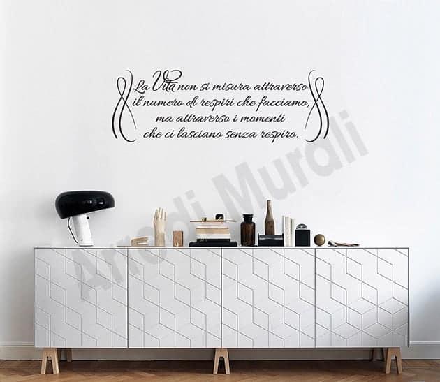 adesivi murali frase vita decorazioni da parete arredo