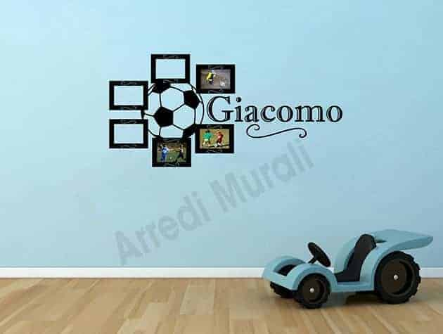 adesivi murali personalizzati cornici foto nome bambino