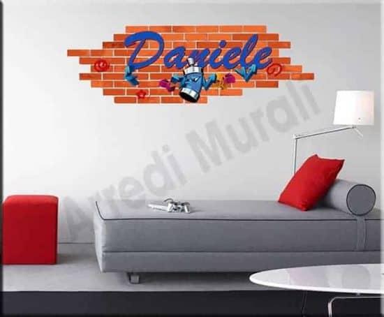 adesivo murale personalizzato graffito murales nome