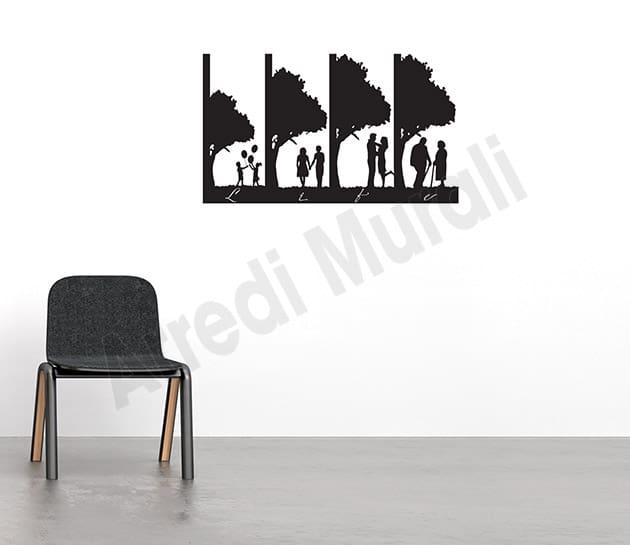 adesivo murale vita decorazione da parete arredo