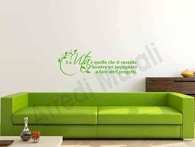 Adesivi da parete frase vita decorazioni arredo - Decorazioni da parete ...