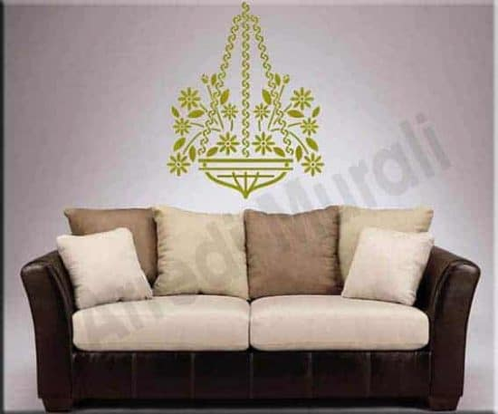 decorazioni adesive murali floreali portafiori