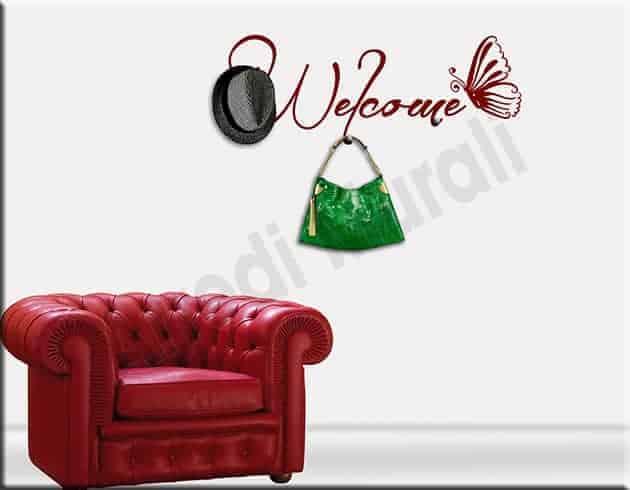 decorazioni da parete appendiabiti welcome arredo casa