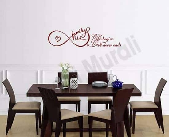 decorazioni da parete frase famiglia adesivi arredo