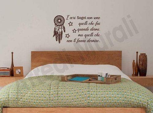 decorazioni da parete frase sogni adesivi murali