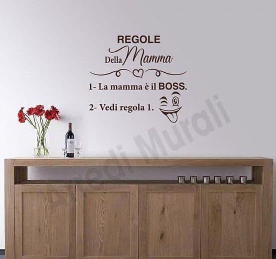 decorazioni da parete regole della mamma adesivi murali