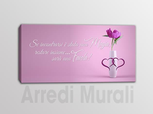 quadro moderno stampa su tela frase amore