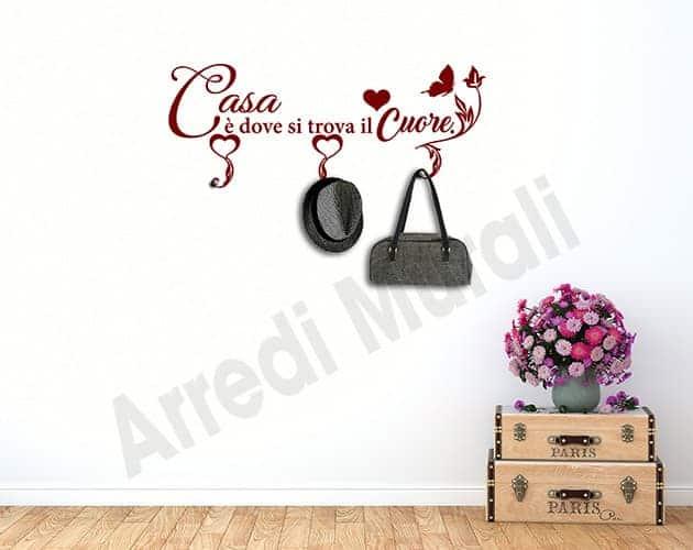 wall stickers appendiabiti frase casa arredo