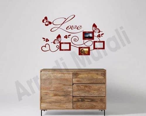 wall stickers cornici foto love decorazioni