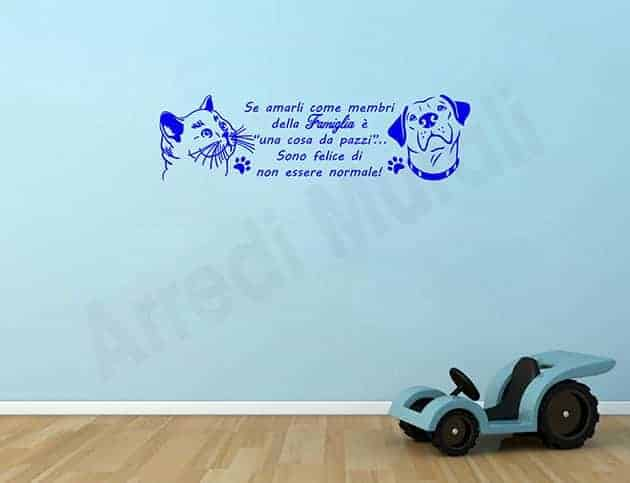 wall stickers frase animali amore decorazioni da parete