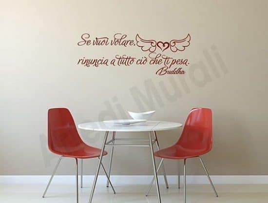 wall stickers frase buddha decorazioni murali