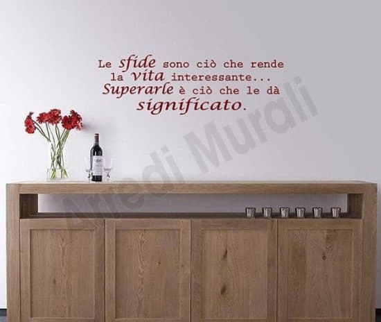 wall stickers frase decorazioni murali arredo