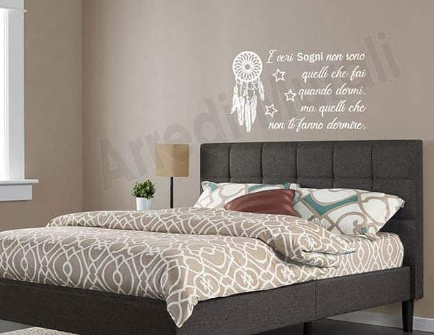 wall stickers frase sogni adesivi murali
