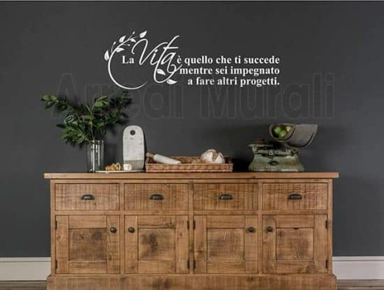 wall stickers frase vita decorazioni arredo