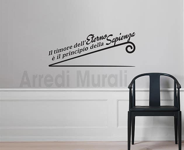 Adesivi murali frase eterno decorazioni da parete