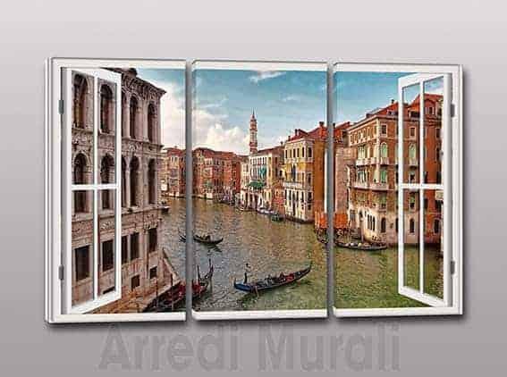 Quadri moderni stampa su tela finestra Venezia